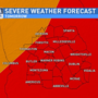 SATURDAY AFTERNOON UPDATE - Severe weather possible Sunday