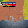 Severe storms set to slam the Gulf Coast Saturday