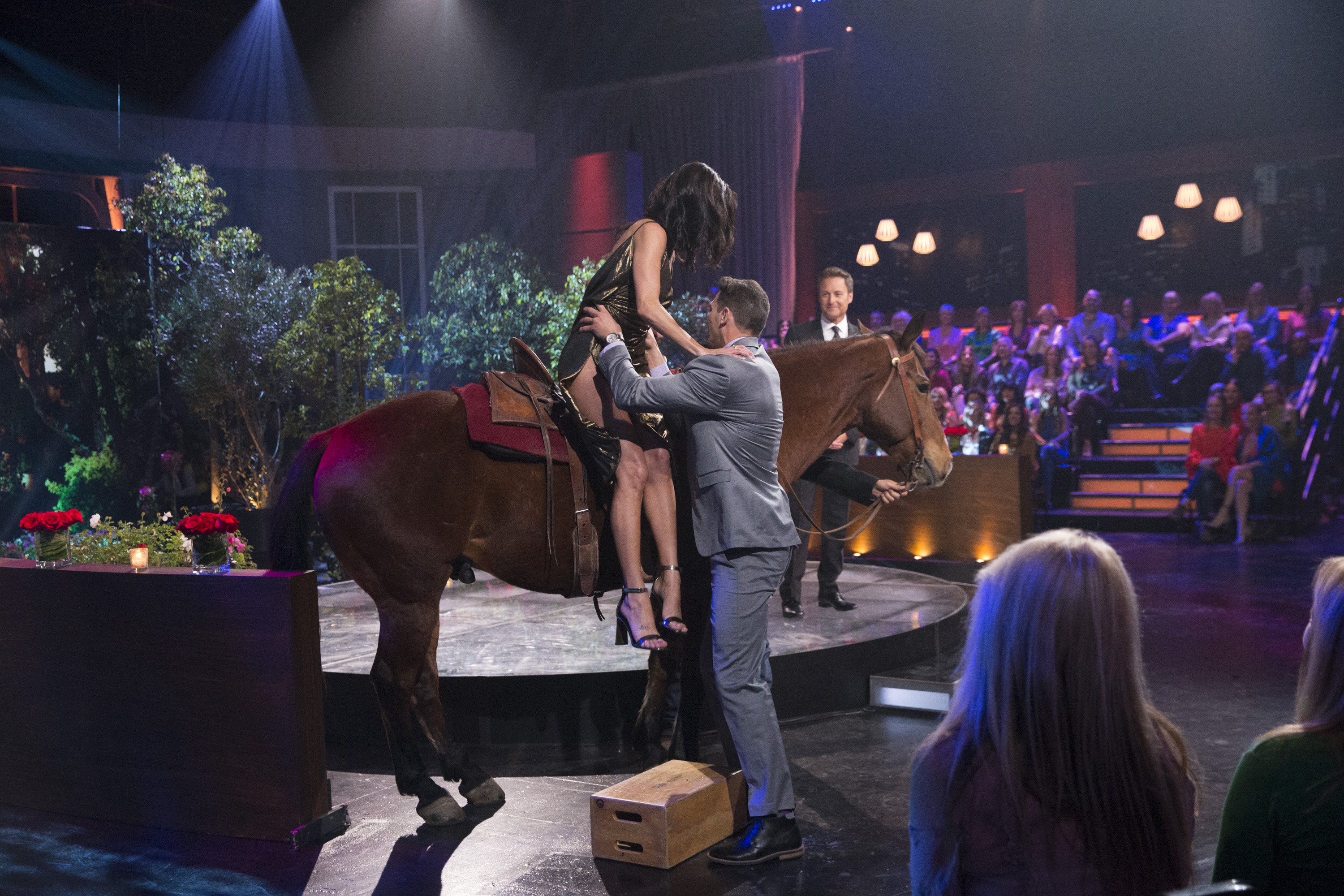So Becca, we will be rooting for you and we truly do hope you end your time with this franchise on a high note. If not... at least you took a ride on a horse! (Image: ABC/Paul Hebert)