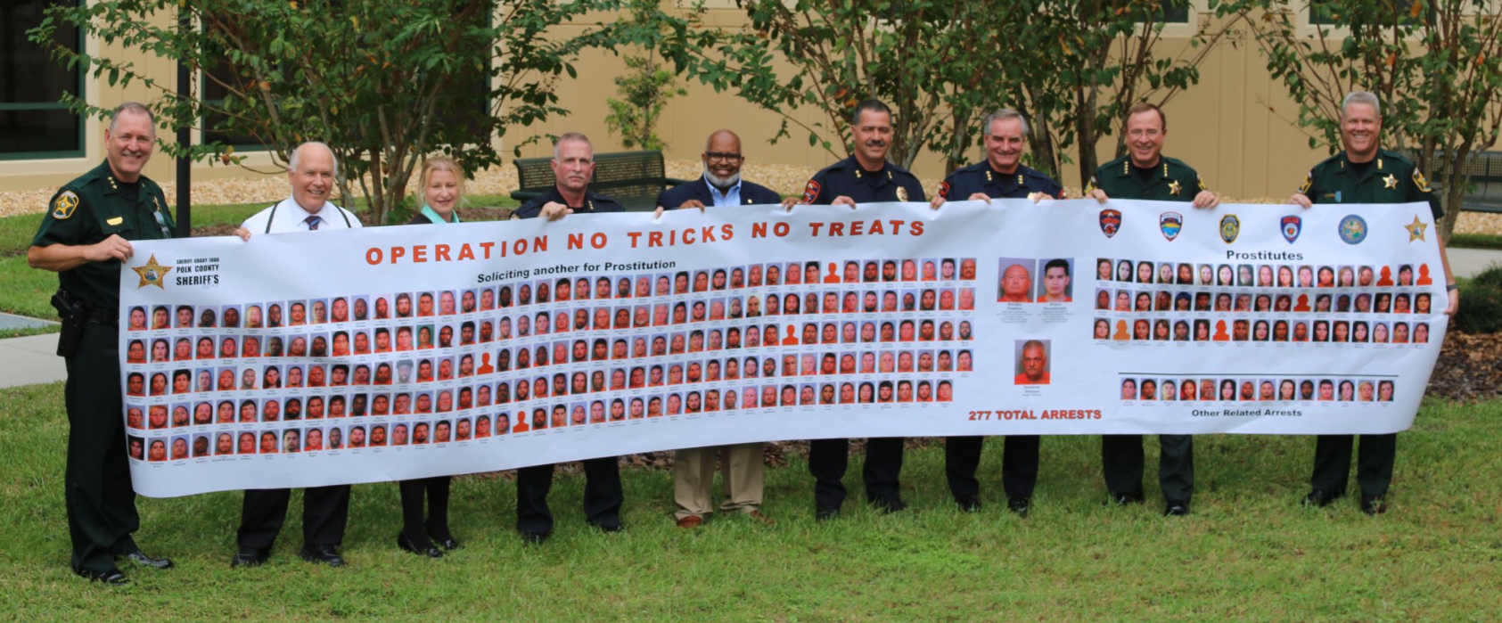Operation No Tricks, No Treats arrests. (Polk County Sheriff's Office)