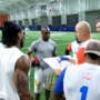 Behind the scenes with Wuerffel and his flag football team