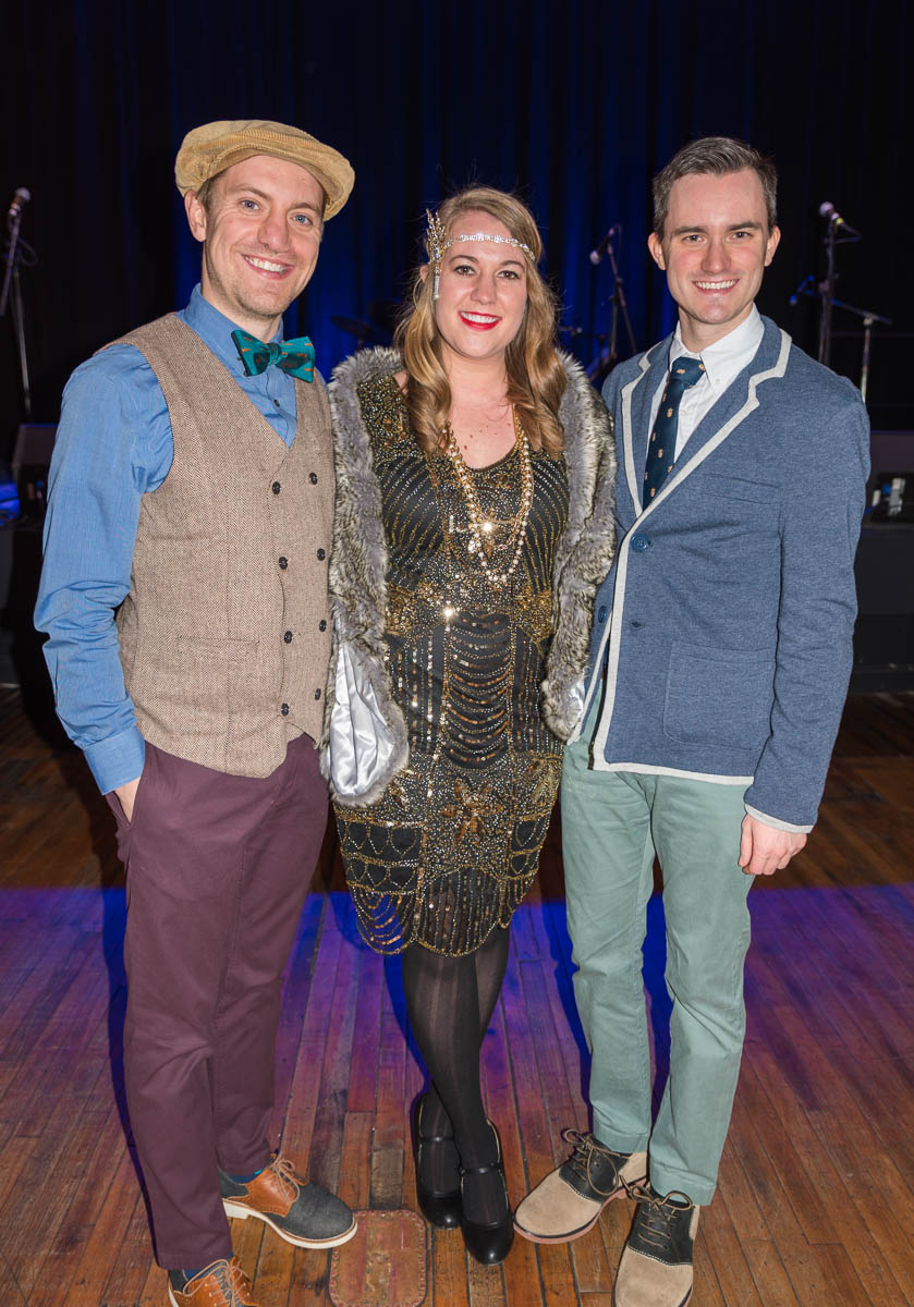 Pictured: John Fredeking, Caroline Hochwalt, and Brett Wilson / Event: Prohibition Party at The Woodward (Feb. 10) / Image: Sherry Lachelle Photography // Published: 3.3.18