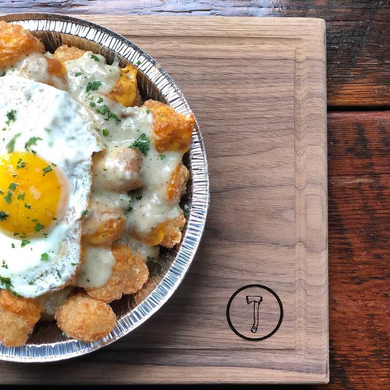 POST: You need these breakfast tots in your life. The snow will be cleared by morning, so we'll see you at brunch! / IMAGE: IG user @NationKitchenAndBar // PUBLISHED: 3.21.18