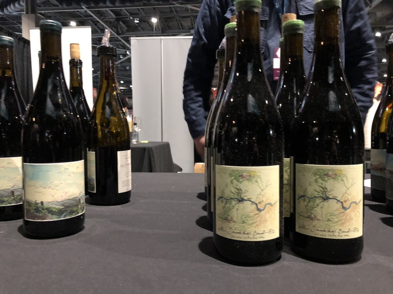 The wines from Smockshop Band; a new-ish winery with unique and smart wines. Pinot Noir and Grenache were poured at this weekend's Taste Washington. (Image: Frank Guanco)