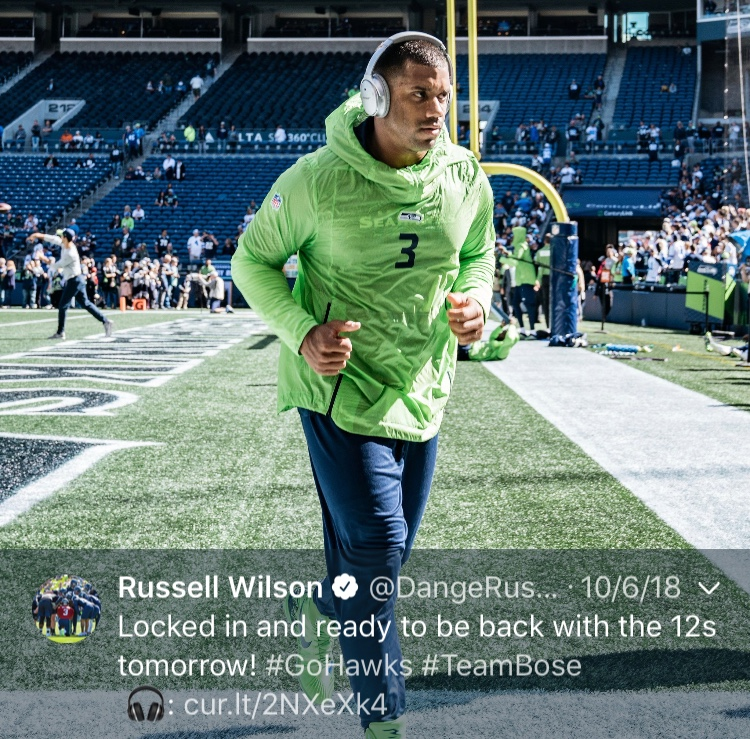 That one time Russ made us believe in jogging again...Happy 30th birthday, Russell! (Image: @dangerusswilson / twitter.com/dangerusswilson)