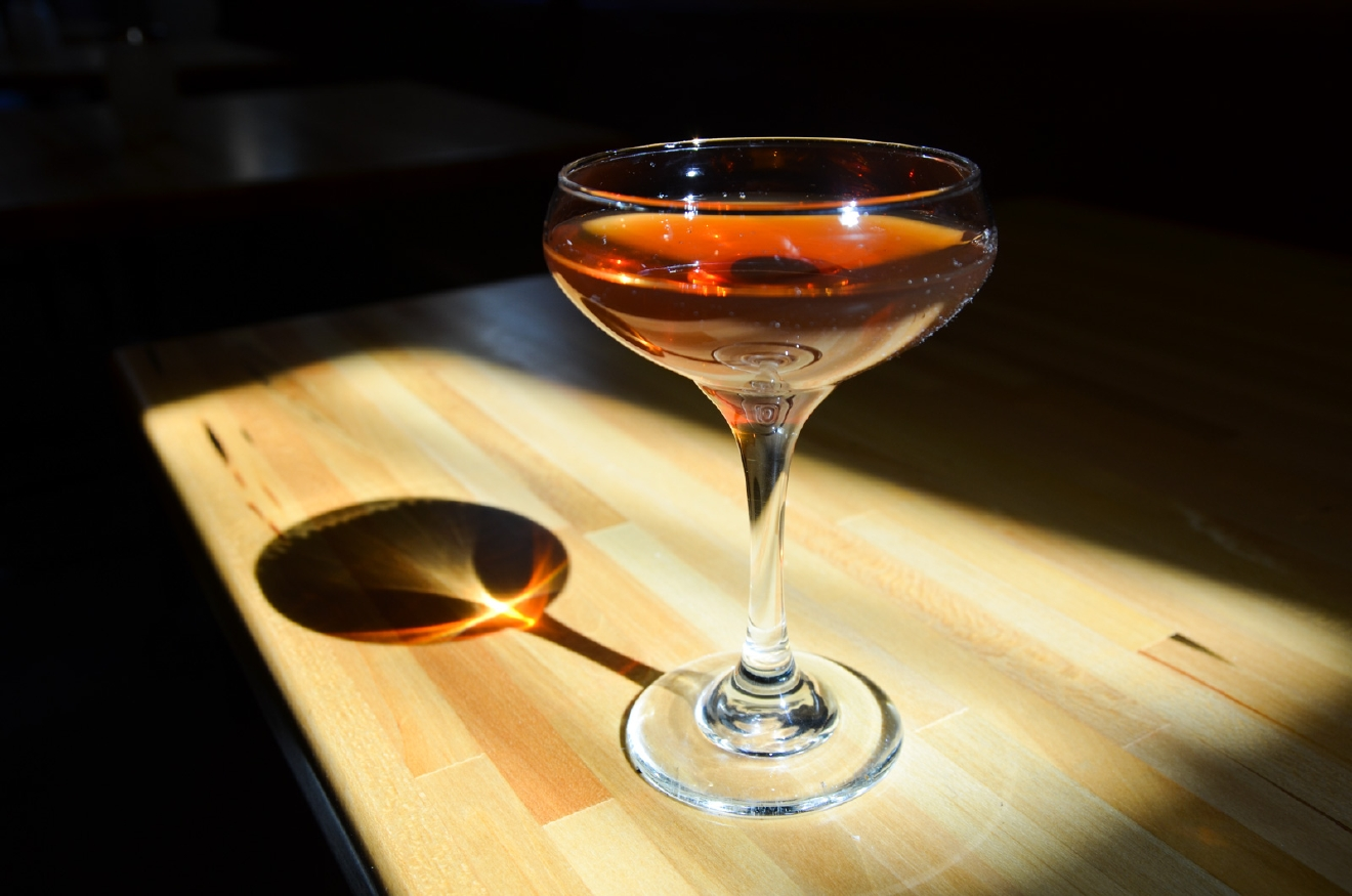 House Manhattan: Woodford Bourbon, Carpano Antica Vermouth, and a dash of bitters / Image: Brevin Couch // Published: 4.17.17
