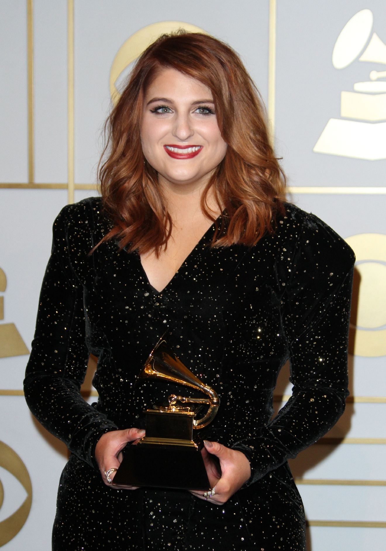 58th Annual GRAMMY Press Room 2016 - Arrivals held at the Staples Center                                    Featuring: Meghan Trainor                  Where: Los Angeles, California, United States                  When: 16 Feb 2016                  Credit: Adriana M. Barraza/WENN.com