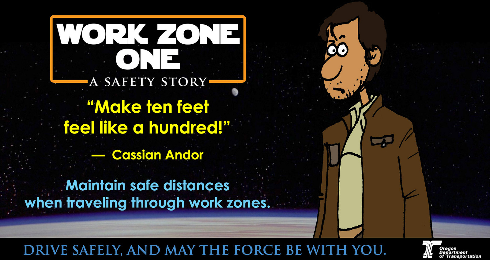 Social media messages for May the Fourth (Star Wars Day) focused on work zone safety. (CC by 2.0)