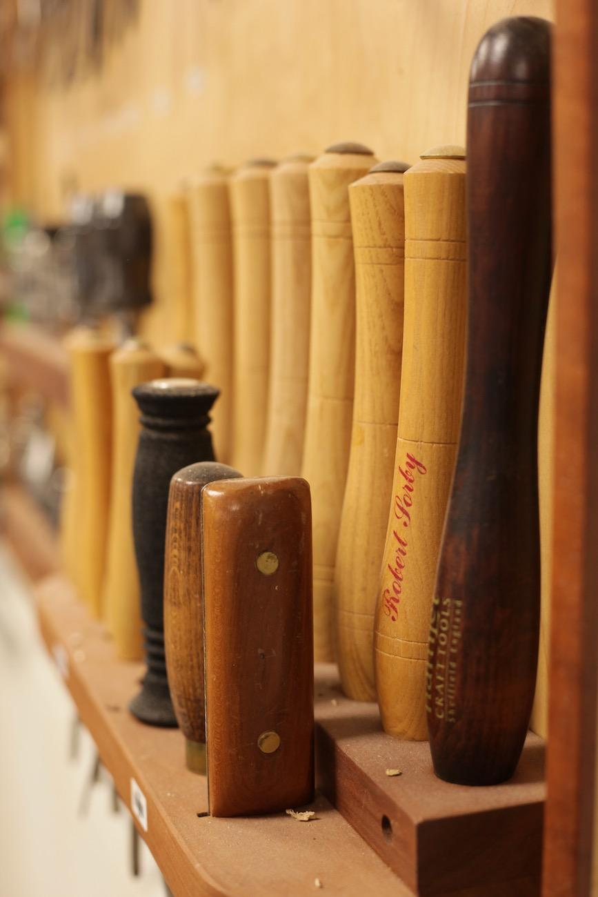 A selection of tools at the Ohio Valley Woodturners Guild / Image: Chez Chesak // Published: 4.18.19