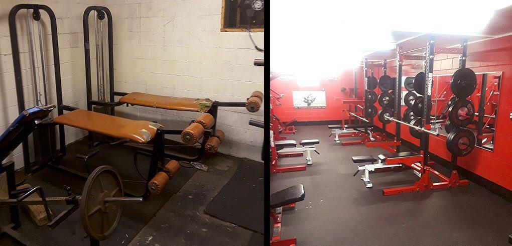 "The before and after images from recent upgrades made to Aliquippa's weight room.{&nbsp;}Watch the AHN Friday Night Rivals powered by IGS Energy ""Kickoff Special"" Aug. 23 at 7 p.m. on 22 the Point.<p></p>"