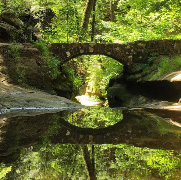 IMAGE: IG user @mattfebo / POST: #oldmanscave #hockinghills #statepark #bridge #nature #trees #reflection #outdoors #hiking #landscape #scenery #scenic #dayhike #wander #adventure #explore #exploreohio #discoverohio #ohiogram #wanderlust #shotoniphone6s #shotoniphone #naturephotography #landscapephotography #architecture #naturelovers #landscape_lovers