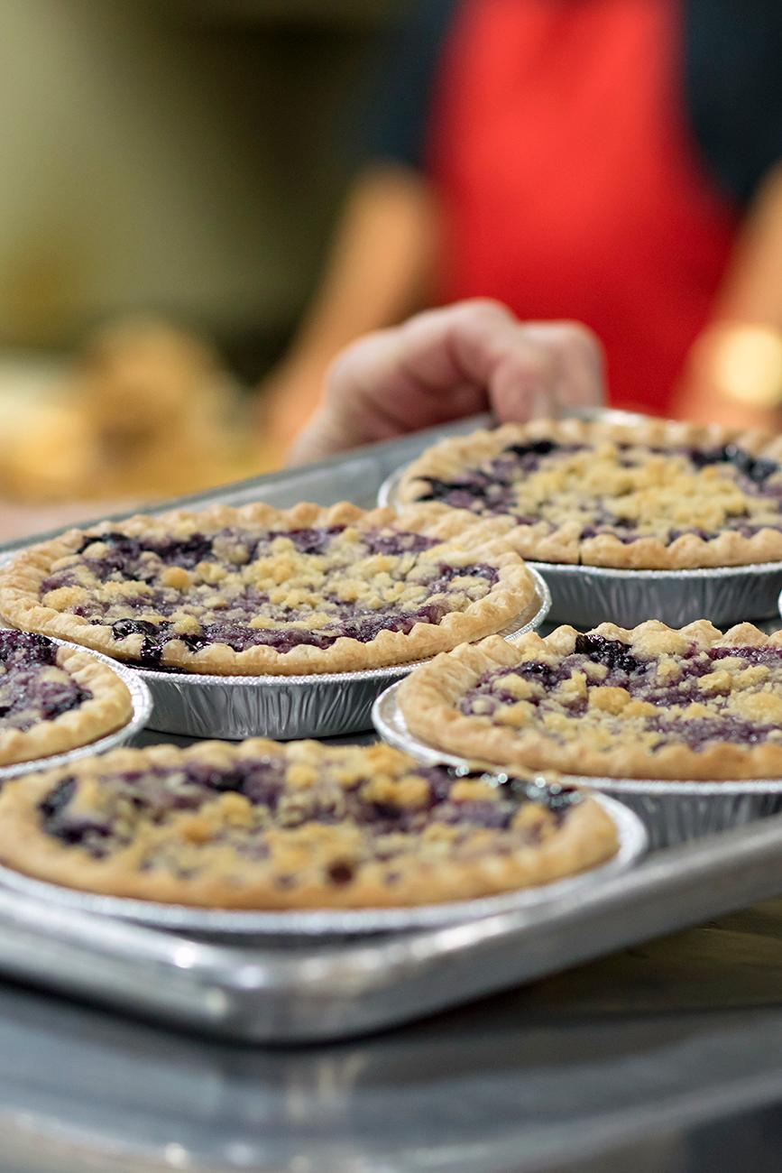 Homemade blueberry pies{ }/ Image: Allison McAdams // Published: 3.11.19