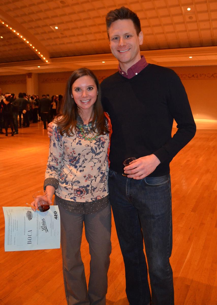 "Brittany Speed and Thad Driscoll. These two will be co-chairing the next Bacchus event as it will benefit Cancer Family Care. Be on the lookout for the May ""Spring Gathering."" (Image: Leah Zipperstein / Cincinnati Refined)"
