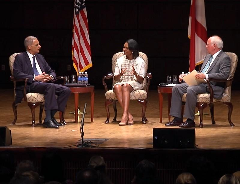 Attorney General Eric Holder and Condoleeza Rice discuss 50 Years Forward:  Empowerment Week.
