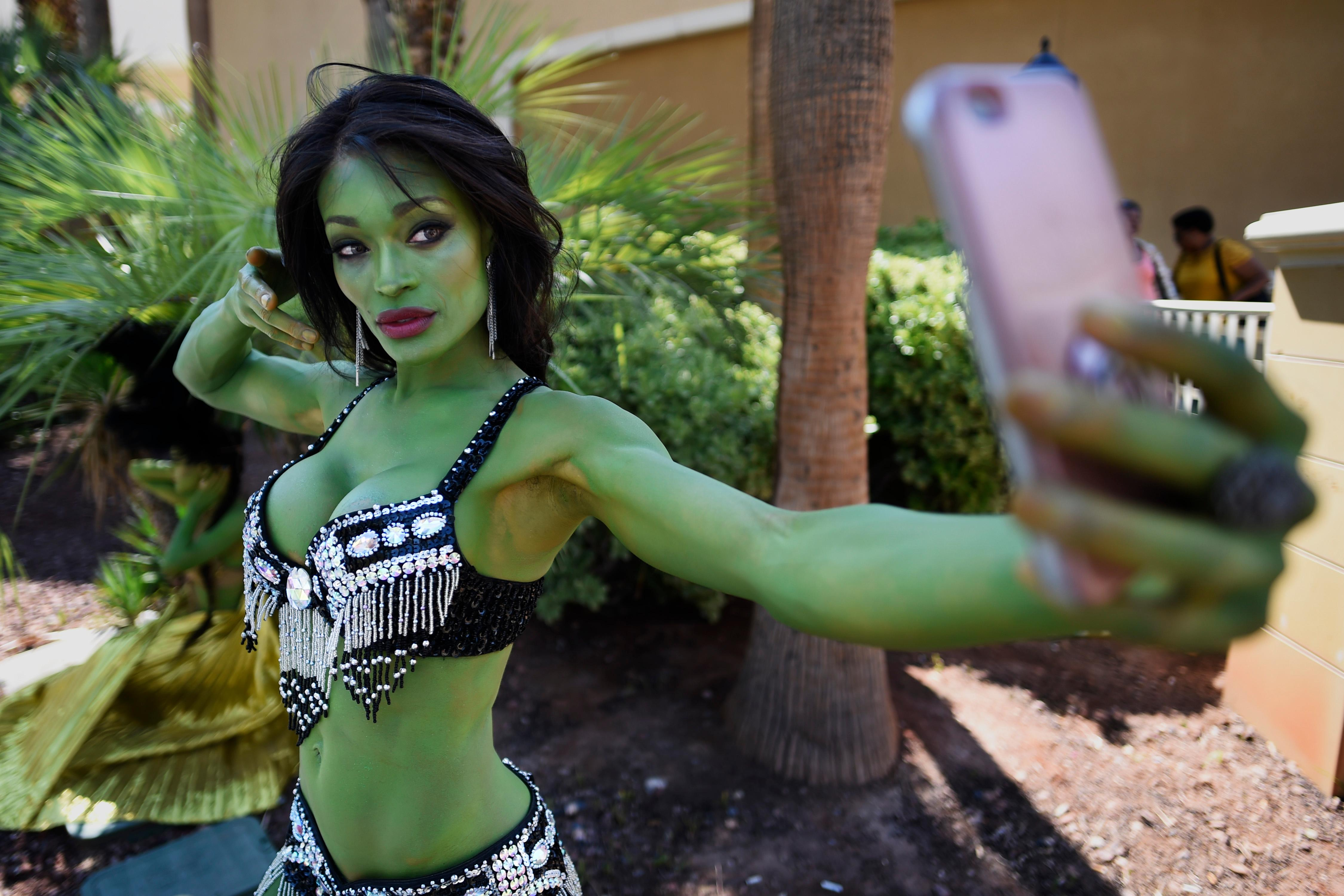 Alicia Marie takes a selfie during the 16th annual Las Vegas Star Trek Convention Saturday, August 5, 2017, at the Rio.  CREDIT: Sam Morris/Las Vegas News Bureau