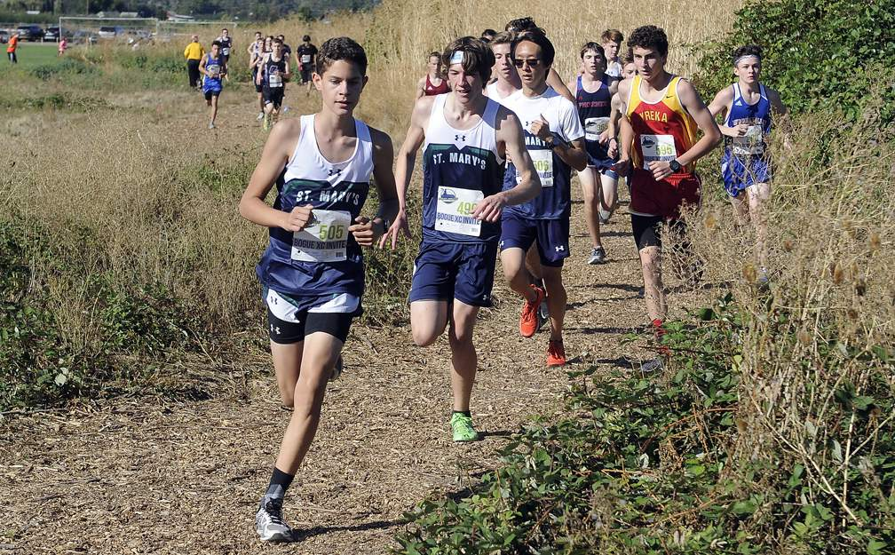 Rogue XC Invite at Colver Sports Fields in Talent 9-23-17. Boys Varsity Race - Andy Atkinson
