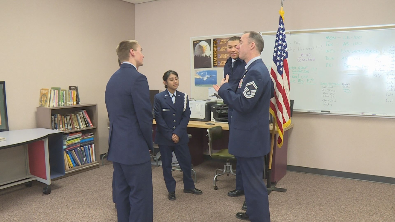 Elkhart high schools are starting Junior Air Force ROTC programs. // WSBT 22 photo