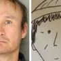 Cartoonish amateur sketch used to identify Pennsylvania thief