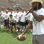 Competition brings out the best at Aaron Jones Camp: Day 2
