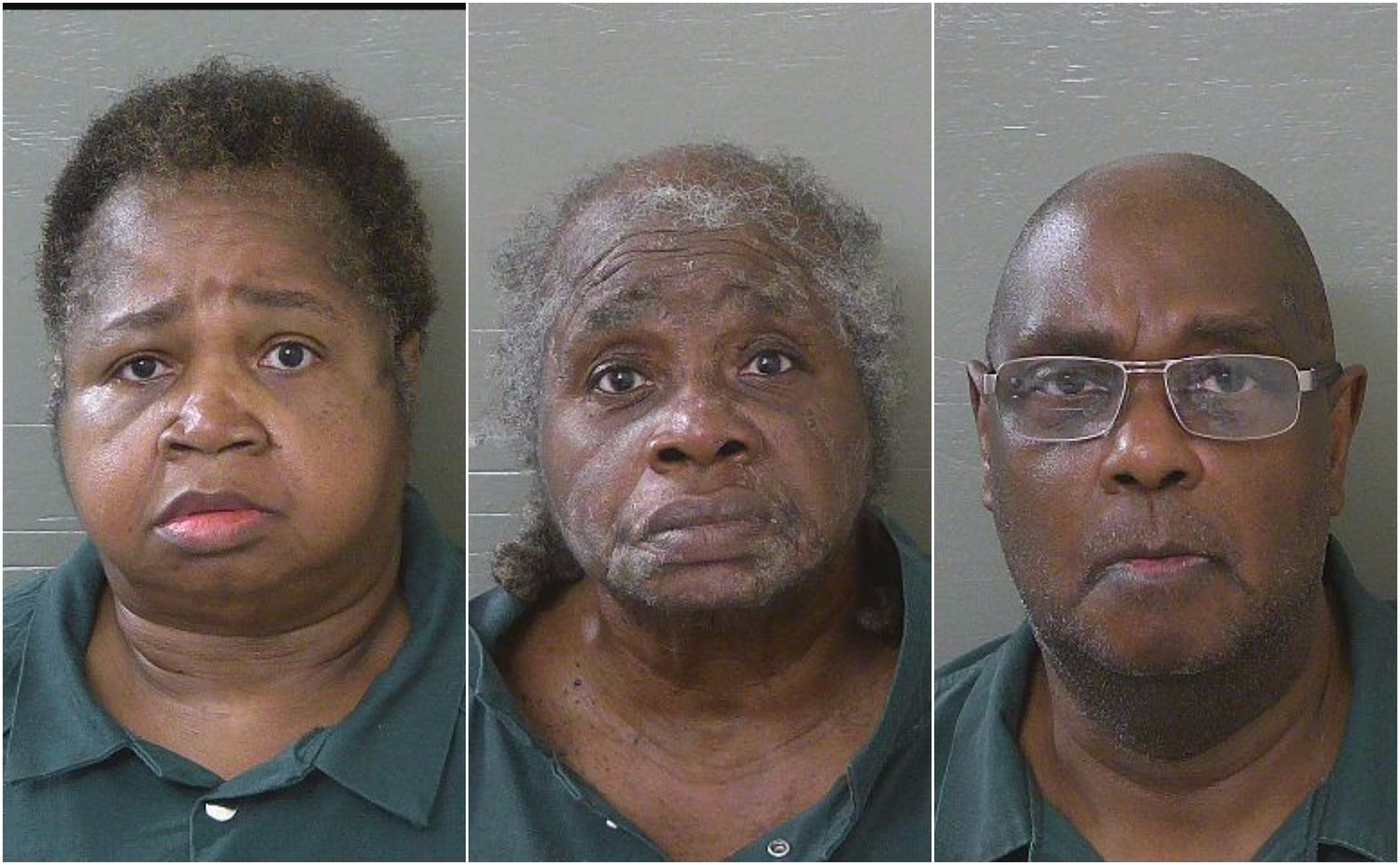 Photo: (L-R) Veronica Posey, Grace Smith, James Smith Source: Escambia County Jail