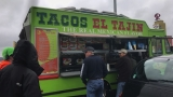 Food truck sells tacos to drivers stuck in I-5 traffic