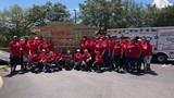 Wells Fargo team volunteers to build home
