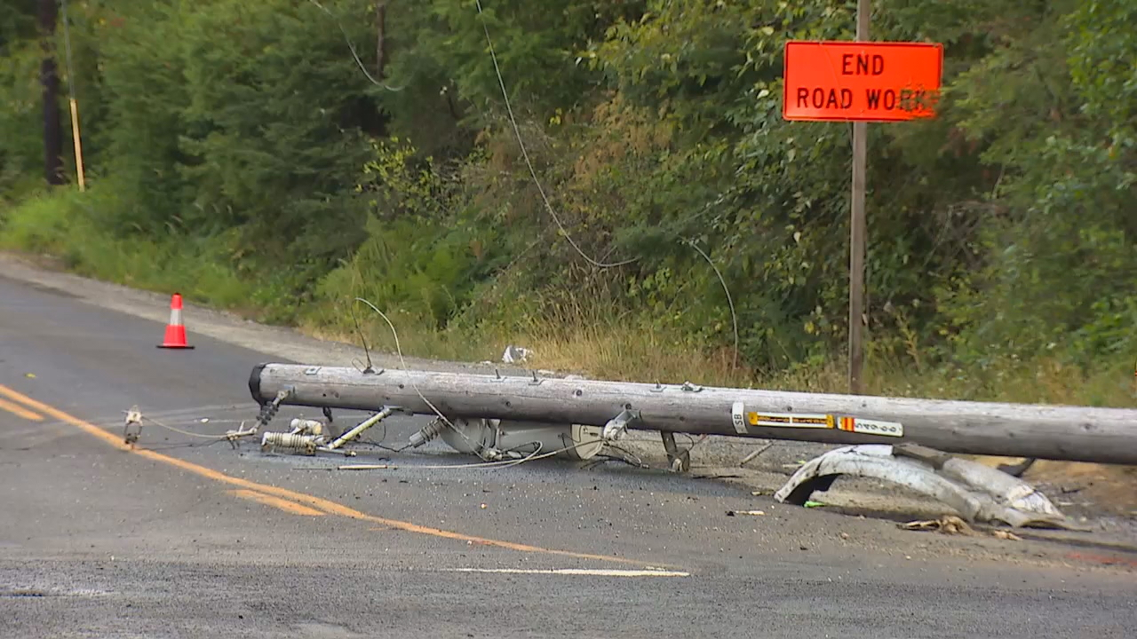 The driver accused of causing a deadly crash that killed three people and sparked a small brush fire in Roy on Monday afternoon, Aug. 6, 2018, has been arrested for DUI. (Photo: KOMO News/Air 4)