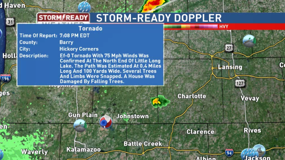 Weather Service Confirms Tornado In Southwestern Michigan Weyi
