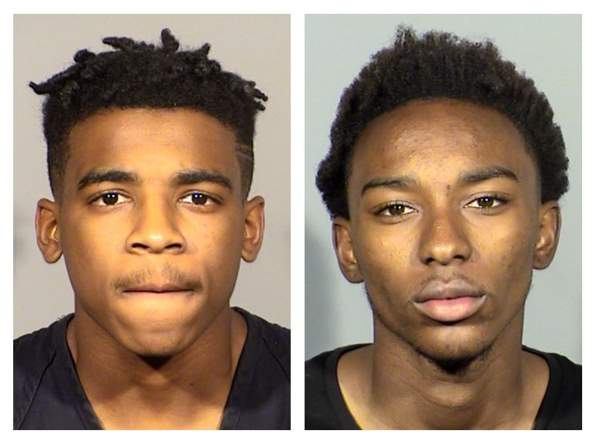 William Bogan, 18, and Thayron Paxton, 18, are suspected in a fatal shooting and robbery near Gowan and Tenaya (LVMPD/KSNV)