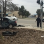 Three hospitalized after southwest Bakersfield crash