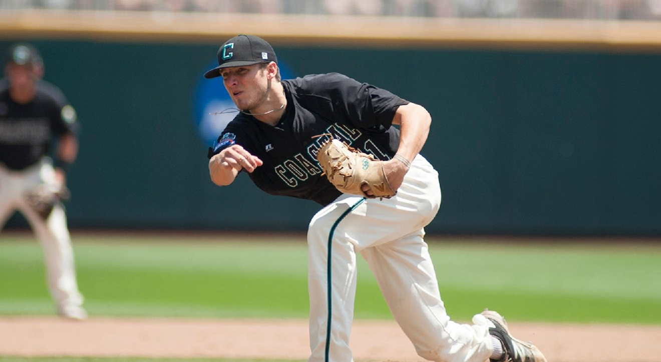 Andrew Beckwith returns as the ace of Coastal Carolina's pitching staff. (Photo courtesy CCU Athletics)