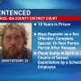 Substitute teacher sent to prison for sexual relations with a student