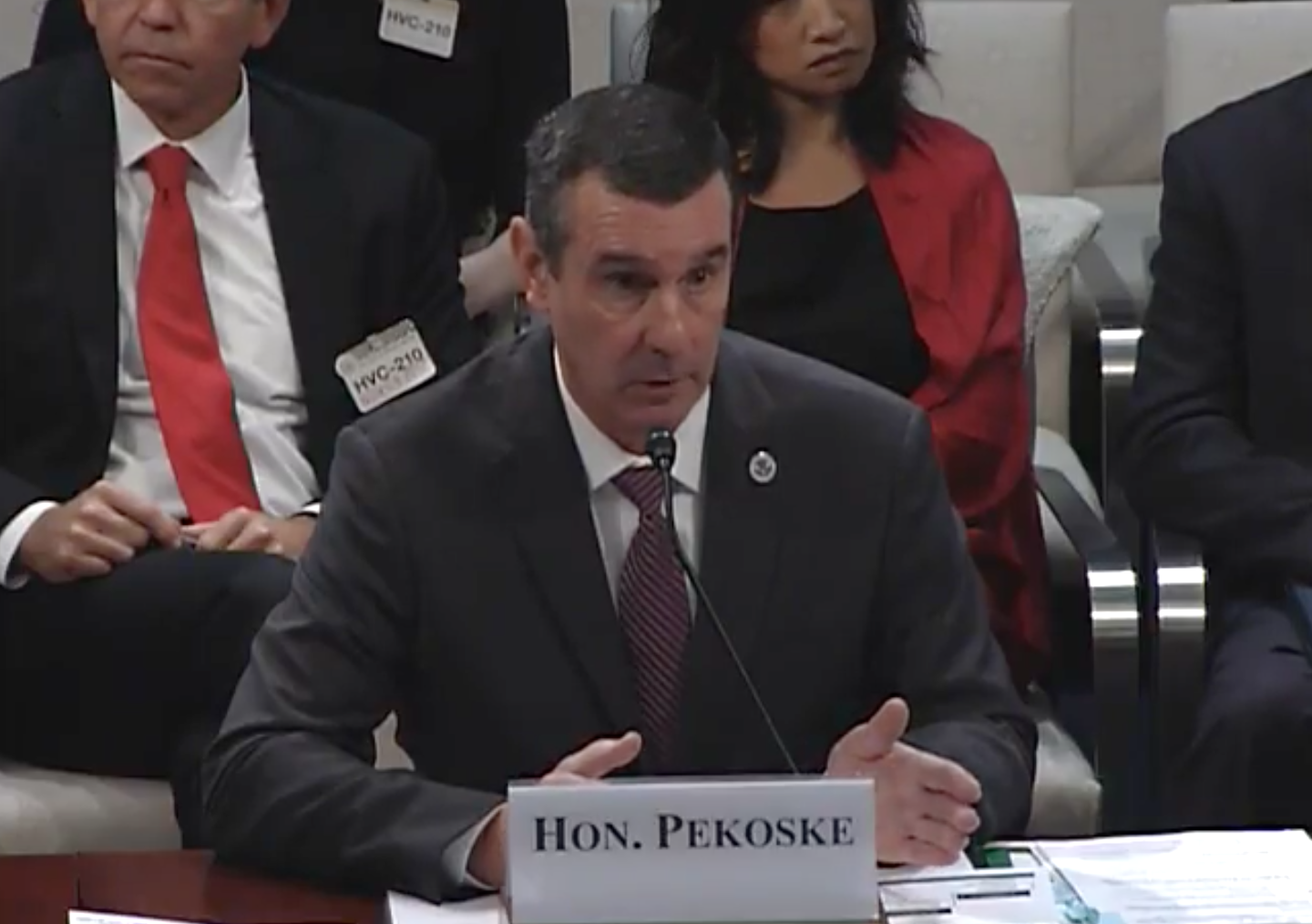 Transportation Security Administrator David Pekoske. Photo Credit: Homeland Security Committee/ YouTube<p></p>