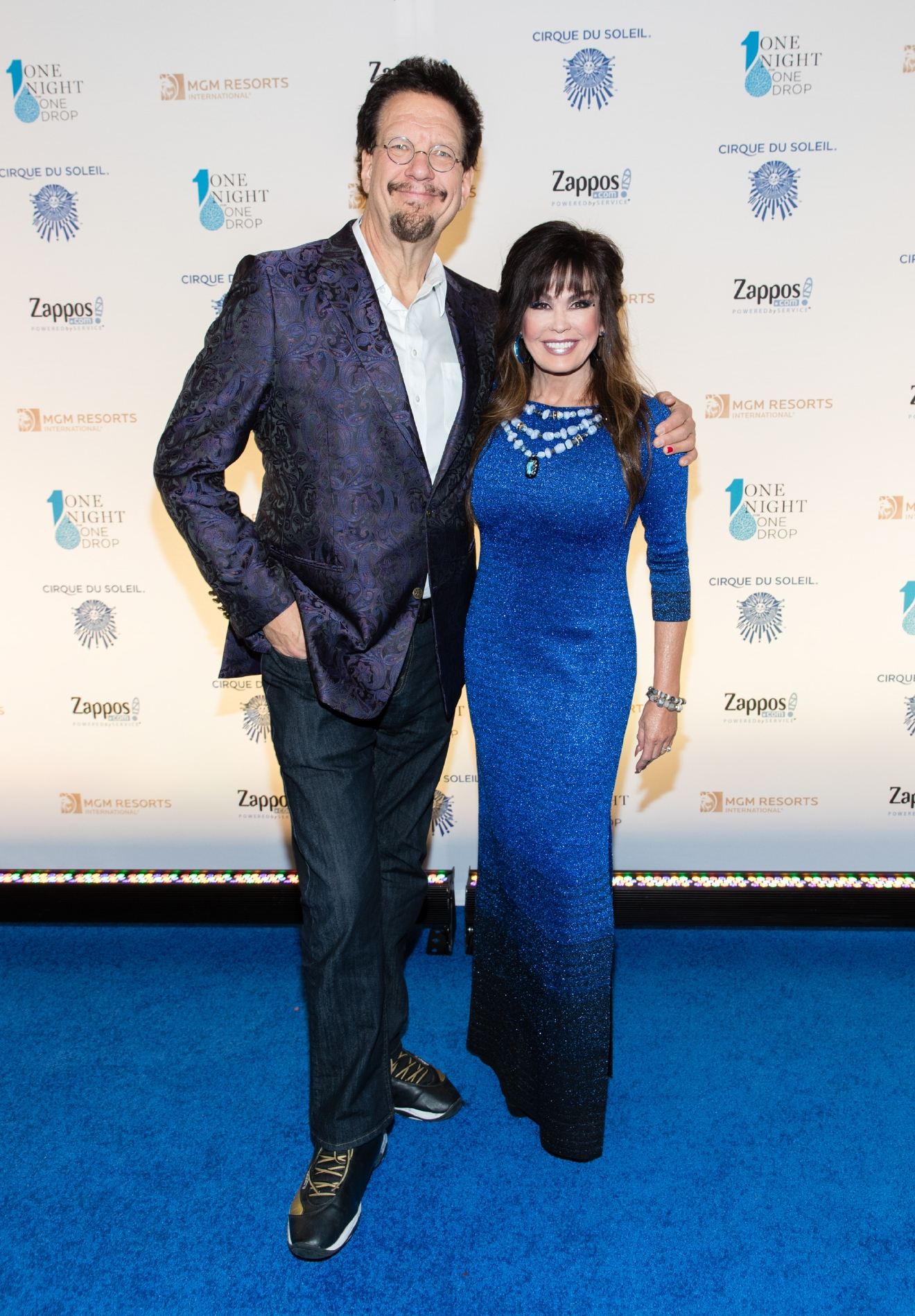 Penn Jillette and Marie Osmond at One Night for One Drop 2017. (Photo courtesy of Erik Kabik/ErikKabik.com)
