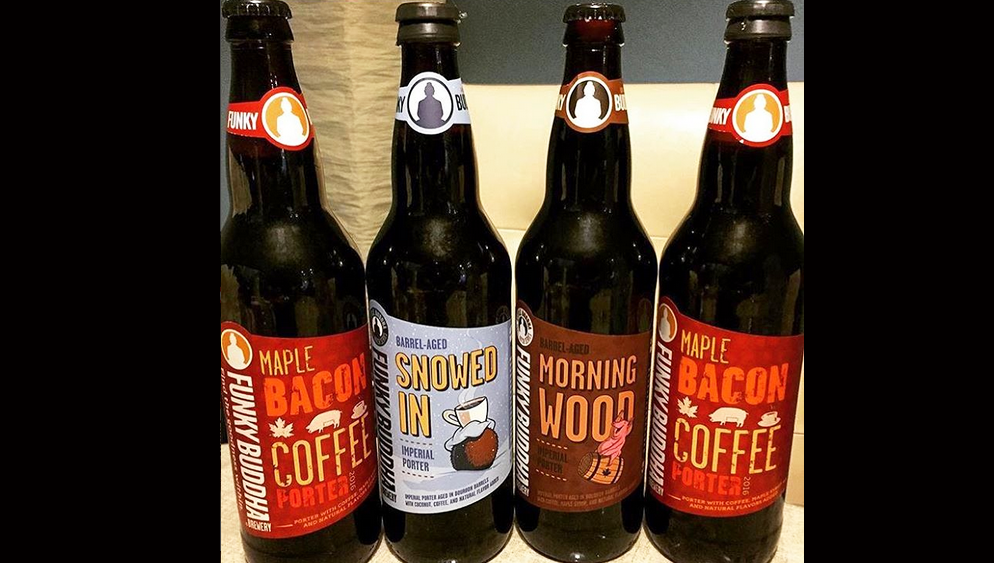 Maple Bacon Coffee Porter, Snowed In, Morning Wood (by Eric Pugh / Funky Buddha)