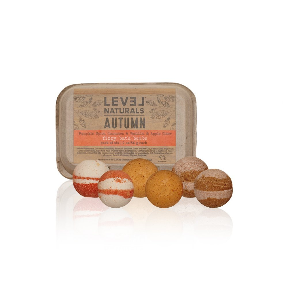 Level Naturals Bath Bombs - Pumpkin Spice, 6 pack. $16.50. (Image:{&amp;nbsp;}Level Naturals Bath Bombs)<p></p>