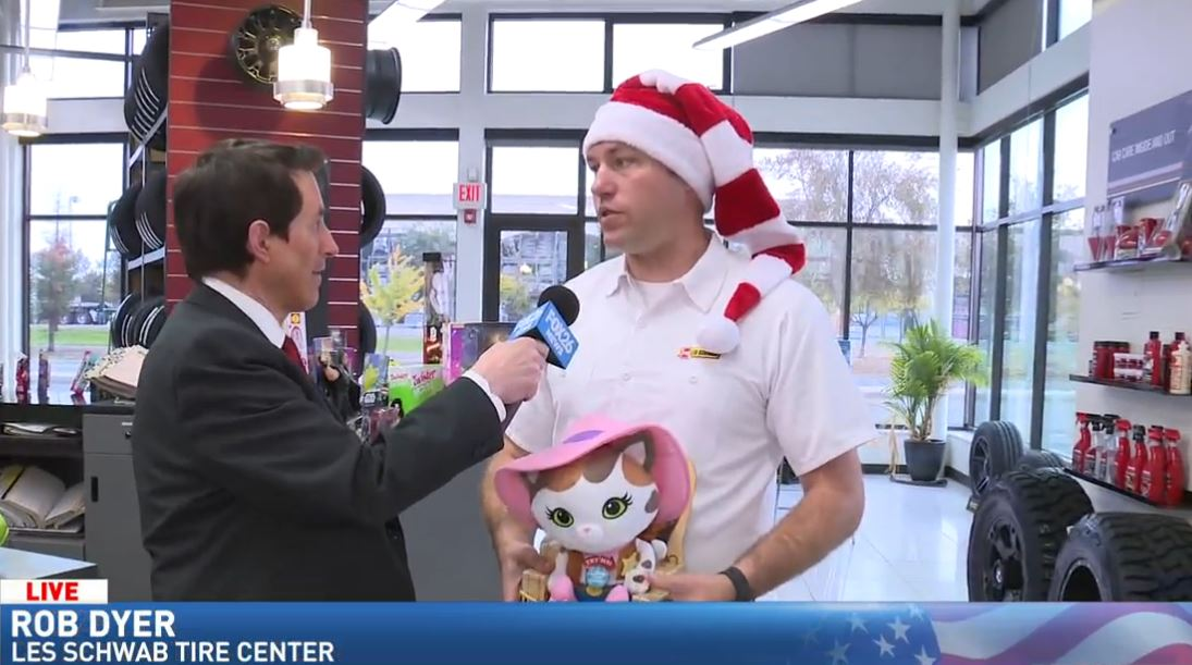 Jim De La Vega at the FOX26 Les Schwab Tires Toy Drive