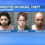 Police: Three people arrested on vehicle theft, drugs