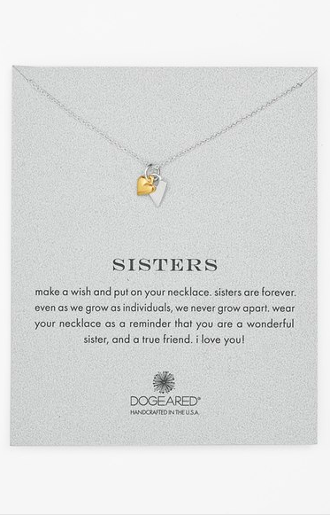 Dogeared 'Reminder - Sisters' Pendant Necklace ($72.00). Find on nordstrom.com. (Image courtesy of Nordstrom)