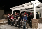 The Pulaski High School drumline performs at the FOX 11 Field House Jan. 13, 2017.