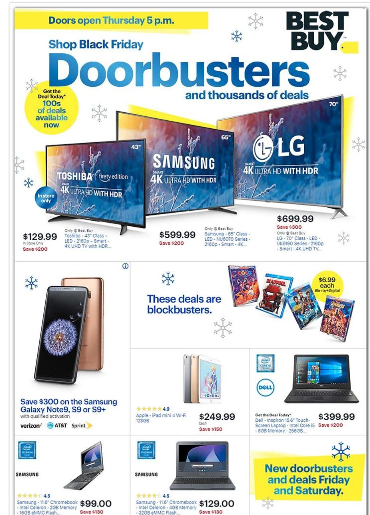 Thanksgiving and Black Friday are just two weeks away but Walmart, Target, Best Buy and other retail stores have released their much anticipated sales ad for Black Friday. (Best Buy){&nbsp;}<p></p>