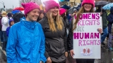 Eugene Women's March: 'We won't be grabbed by our… pink hats'