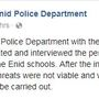 Extra police at Enid High School after police investigate school shooting threat