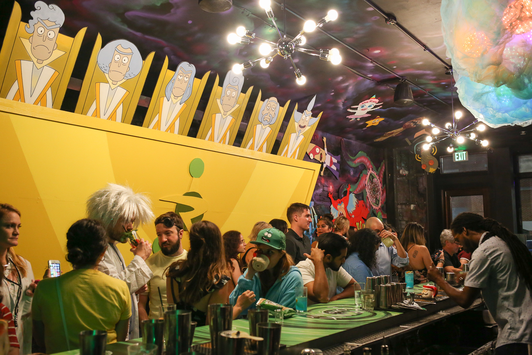 Wubba Lubba Dub Pubis set to{ } bring 'Rick and Morty' to our universe on August 16.The latest version of the pop-up bar from Drink Company honors all of the details of 'Rick and Morty', a show on Cartoon Network aimed at millennials.{ } The space includes a karaoke portion, but if you're feeling low key, you can still enjoy the themed cocktails and super detailed decor. As a bonus, if you dress like Rick, you can beat the line and get through the separate 'Ricks Only' door. (Amanda Andrade-Rhoades/DC Refined)