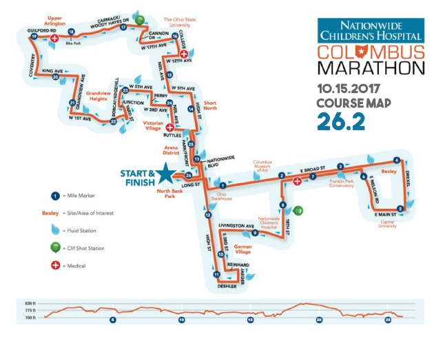 Roads downtown will be closed for Sunday's Columbus Marathon. (Courtesy Columbus Marathon)