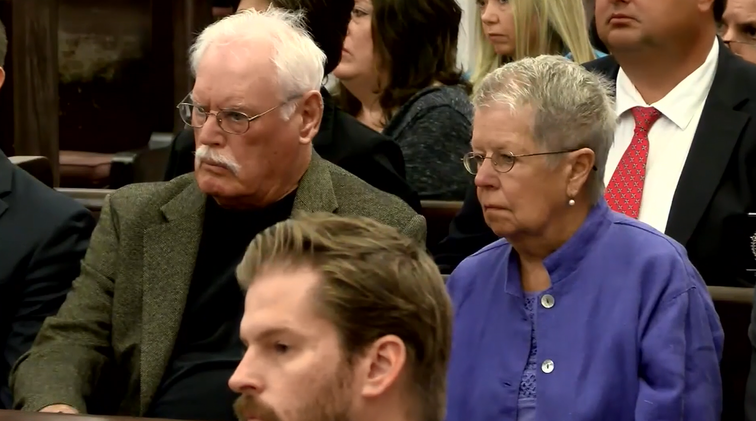 Katherine and Sheila Lyon's parents attend the sentencing for Lloyd Welch in Bedford (Photo: WSET)