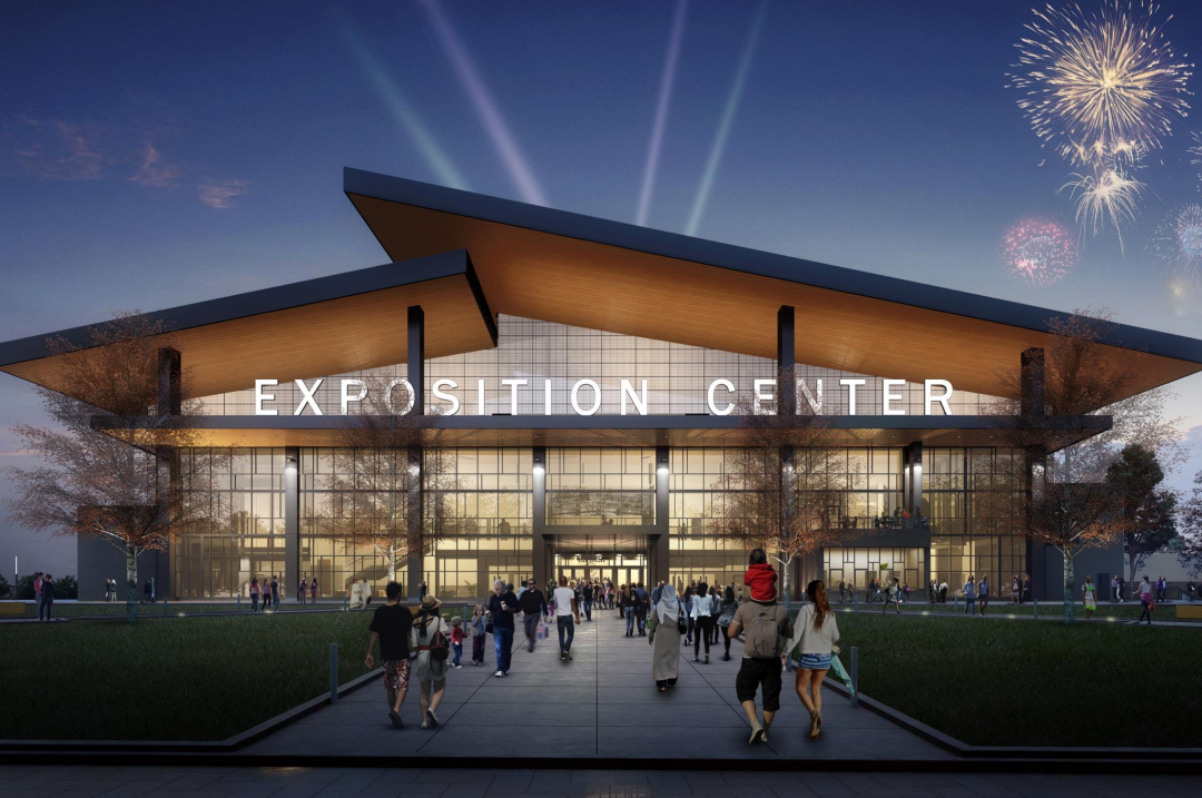 Governor Andrew Cuomo's office released new renderings of the Expo Center as the final steel beam was put into place Monday.