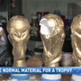 Police seize World Cup trophies made of cocaine