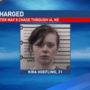 Woman charged following May 8th chase though IA, NE