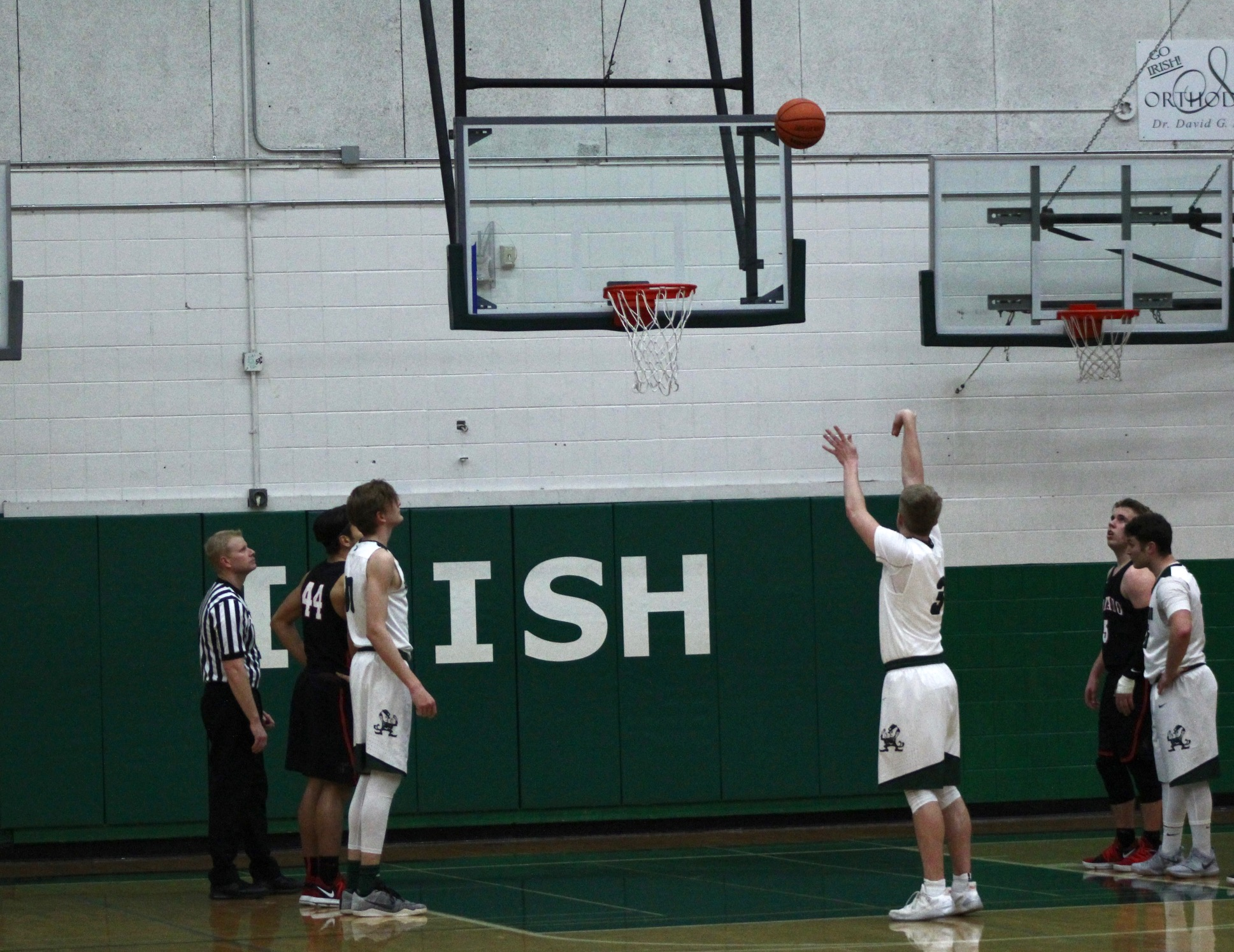 The Sheldon Irish fell to the Black Tornado, 70-59, in a Southwestern Conference matchup. Photo Courtesy of Zachary Neel.